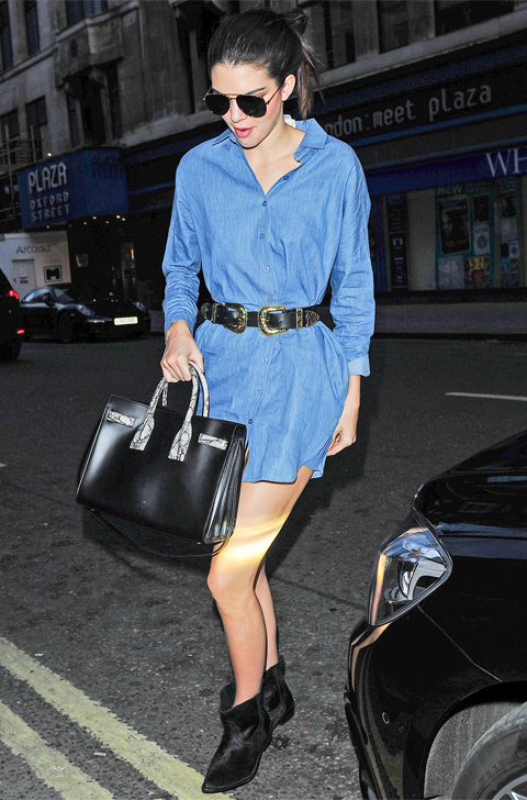 Kendall Jenner arrives back at her London hotel **USA ONLY**