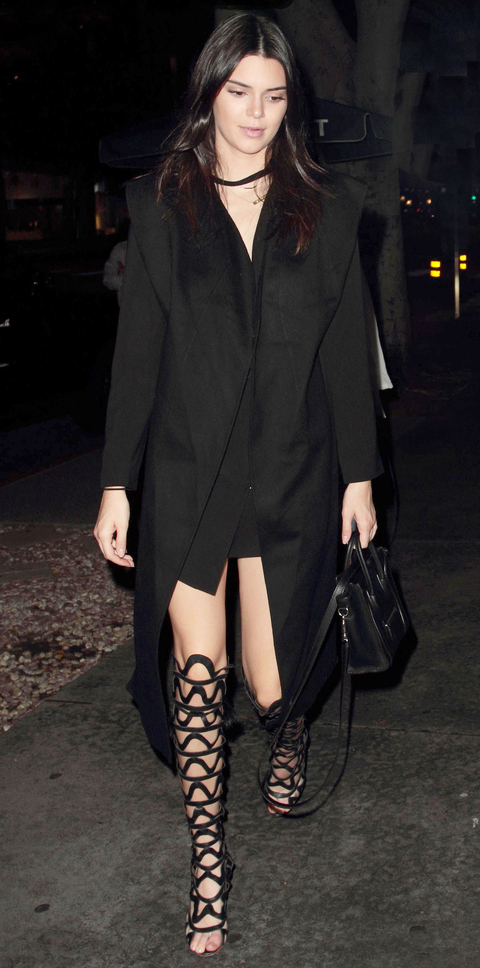 Kendall Jenner dines at Madeo after Paris Fashion Week **USA ONLY**