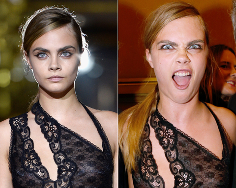 Cara Delevingne Silly Faces