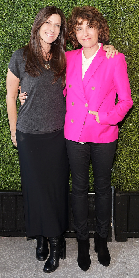 Rena Ronson and Jill Soloway attend an intimate cocktail benefitting Women In Film hosted by Barneys New York and United Talent Agency at Fred's at Barneys on July 20, 2015 in Beverly Hills, California.