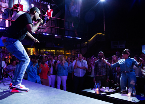 New York & Company's Soho Jeans Collection launch's featured karaoke at Marquee on July 22, 2015 in New York City.