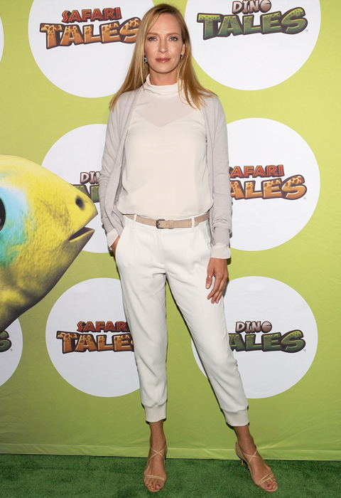 Uma Thurman Hosts The Launch Of Dino Tales And Safari Tales At The American Museum Of Natural History With Kuato Studios - Arrivals