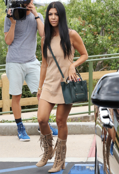 Kourtney and Khloe and Kris leaving Jinky's after filming