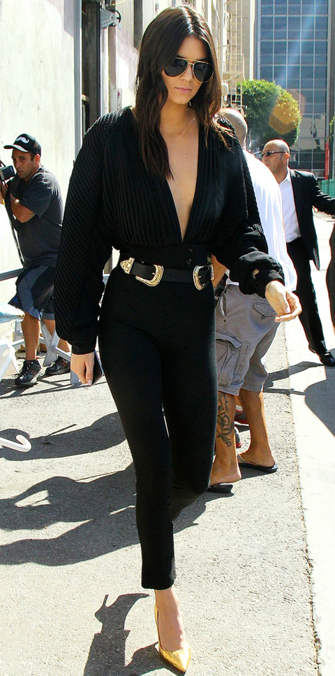 INF - Kylie Jenner & Kendall Jenner Stop For Greek Yogurt in Coordinating All-Black Outfits