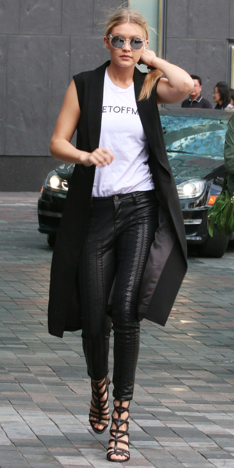 Gigi Hadid is presenting at the 2015 Much Music Video Awards. We spotted the top model returning to her hotel in Yorkville, Toronto after doing her rehearsals with Ed Sheeran. Joe Jonas' rumoured new girlfriend was seen with her entourage.