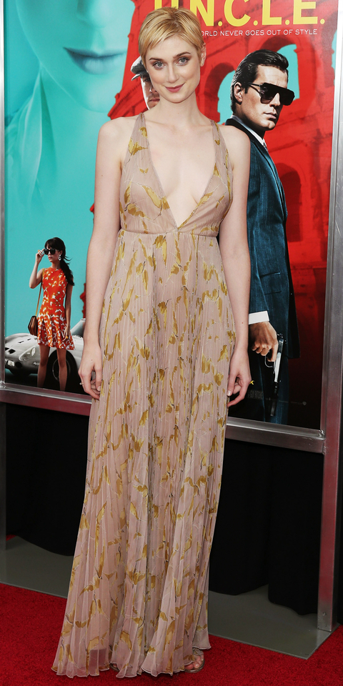 Actress Elizabeth Debicki attends the New York Premiere of 'The Man From U.N.C.L.E.' at Ziegfeld Theater on August 10, 2015 in New York City.