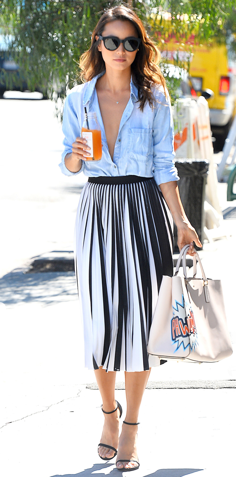 Jamie Chung Leaves Clover Juice in West Hollywood