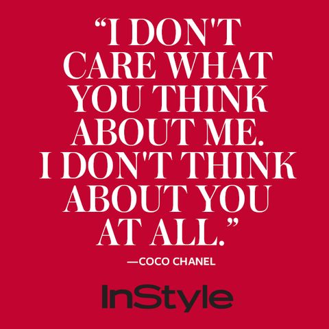 Coco Chanel 60 Memorable Quotes On Her Birthday InStyle Enchanting Memorable Quotes