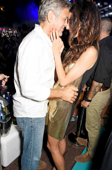 George and Amal Clooney in Ibiza