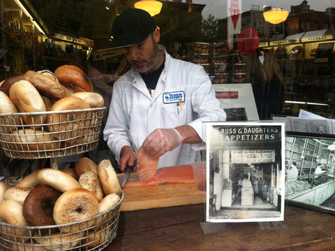 Russ and Daughters Bagel