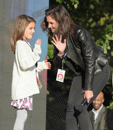Suri Cruise and Katie Holmes at the Global Citizen Festival