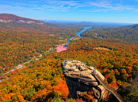 Fall Foliage Chimney Rock