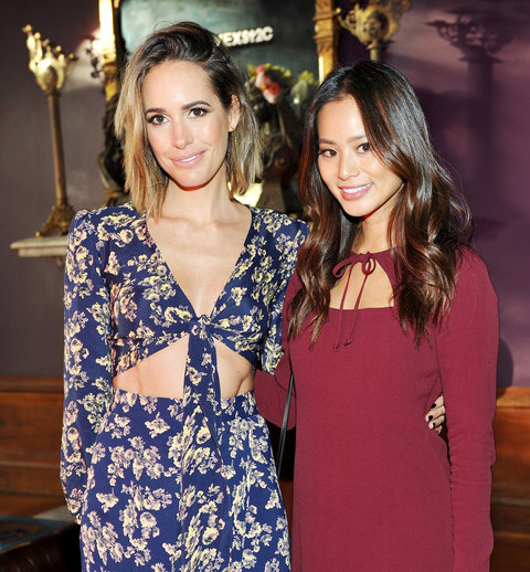 Louise Roe  and Jamie Chung - REVOLVE fashion show - October 22, 2015