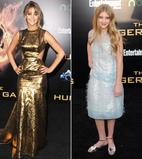 Willow Shields and Jennifer Lawrence - Hunger Games Premiere