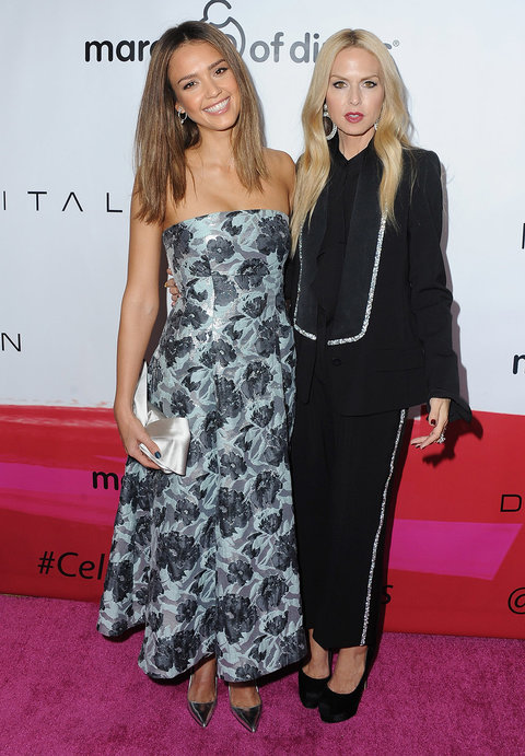 Jessica Alba and Rachel Zoe at the March of Dimes Celebration of Babies
