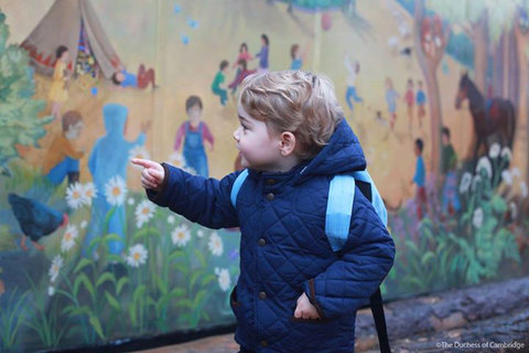 Prince George First Day of School Embed