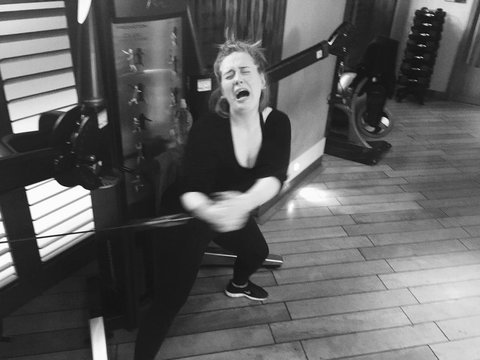 Adele gym photo