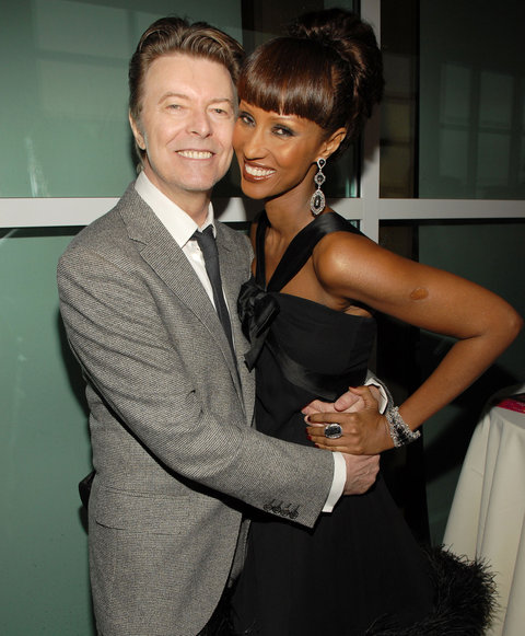 <p>David Bowie and Iman, Tommy Hilifiger</p>