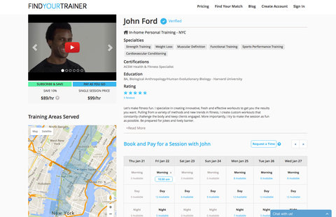 Personal Trainer App Embed