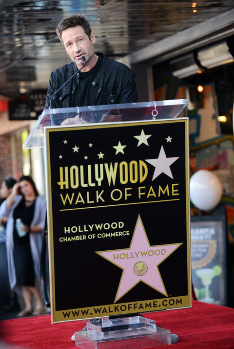 Actor David Duchovny honored with star on the Hollywood Walk of Fame held on January 25, 2016 in Hollywood, California.