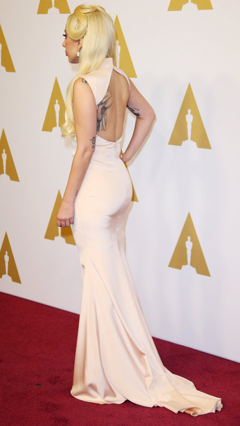 Singer/actress Lady Gaga attends the 88th Annual Academy Awards Nominee Luncheon in Beverly Hills, California.