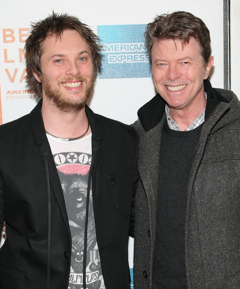 Director Duncan Jones and father David Bowie attend the premiere of 'Moon' during the 2009 Tribeca Film Festival at BMCC Tribeca Performing Arts Center on April 30, 2009 in New York City.
