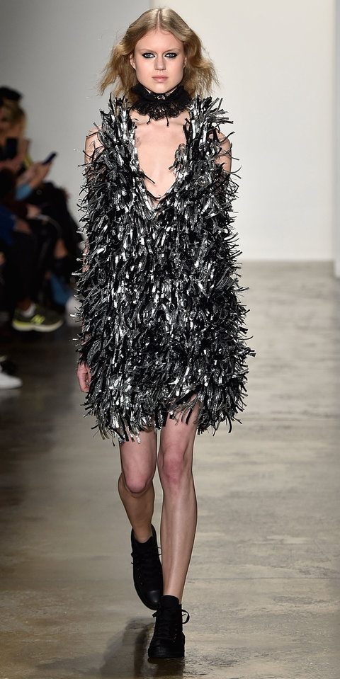 A model walks the runway at Adam Selman fashion show during Fall 2016 MADE Fashion Week at Milk Studios on February 11, 2016 in New York City.