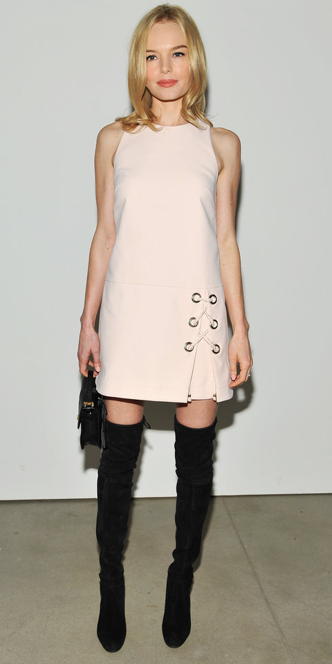 Actress, Kate Bosworth, attends the Rebecca Minkoff Fall 2016 fashion show during New York Fashion Week: The Shows at The Gallery, Skylight at Clarkson Sq on February 13, 2016 in New York City.