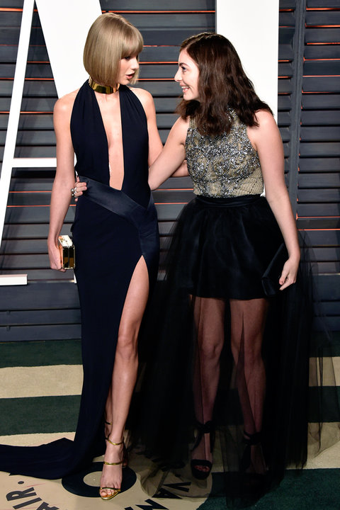 Taylor Swift Lorde Vanity Fair Oscar After Party - 2016 Embed