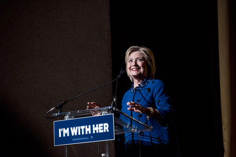 Democratic presidential Candidate Hillary Clinton speaks during a fundraiser at Radio City Music Hall on March 2, 2016 in New York City. Clinton won seven states in yesterday's Super Tuesday.