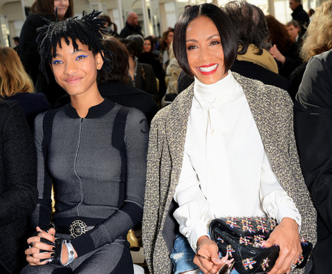 Jada Pinkett Smith and Willow Smith - Chanel - Paris Fashion Week Fall/Winter 2016/2017 - March 8, 2016