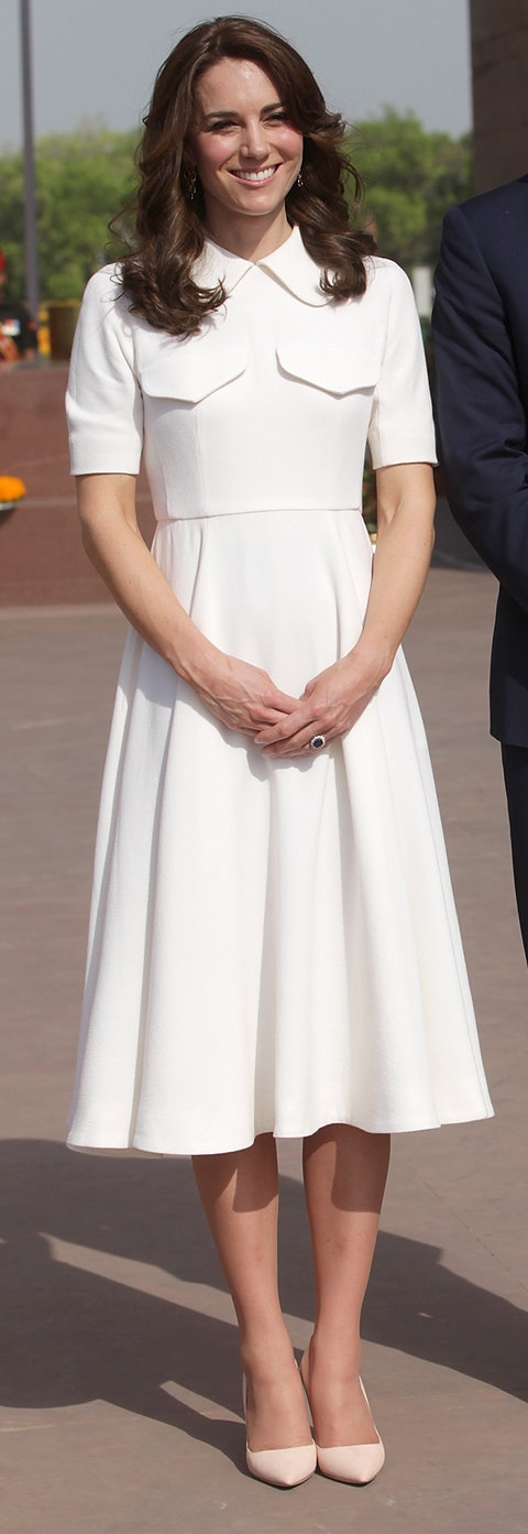 Kate Middleton white dress Day 2 India