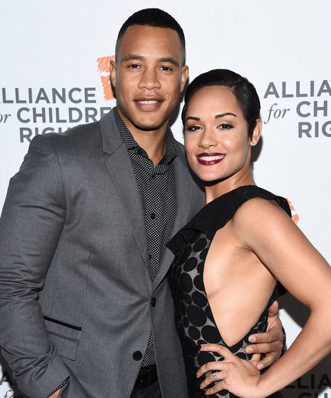 Actor Trai Byers (L) and actress Grace Gealey arrive at the Alliance For Children's Rights' 24th Annual Dinner at The Beverly Hilton Hotel on March 10, 2016 in Beverly Hills, California.