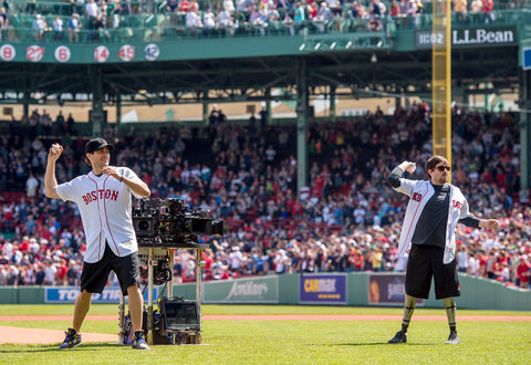 Jake Gyllenhaal Boston Red Sox Opening Pitch