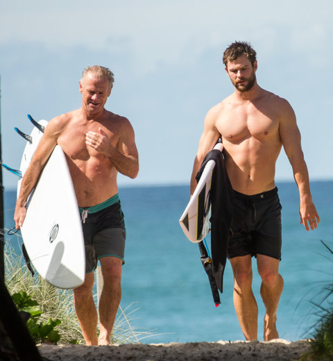 Chris Hemsworth and Father