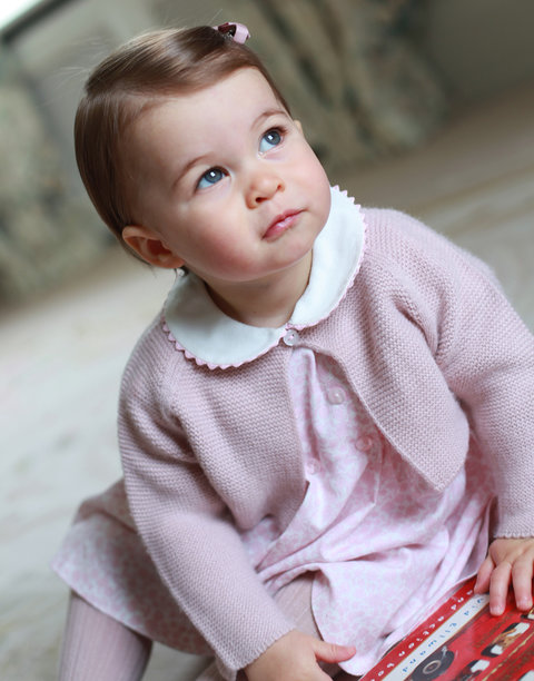 Princess Charlotte's photos released to celebrate first birthday