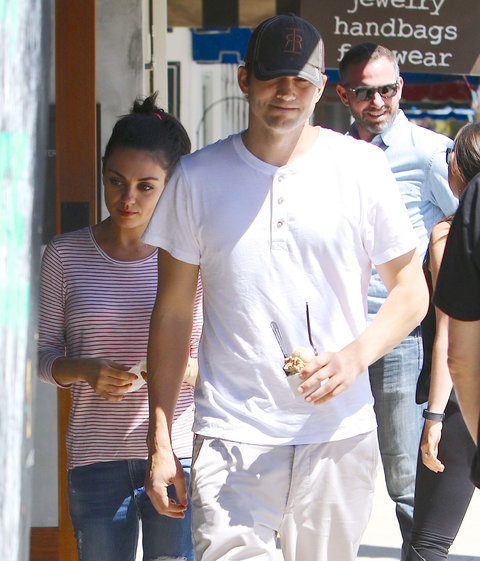 Ashton Kutcher and Mila Kunis - May 2, 2016.