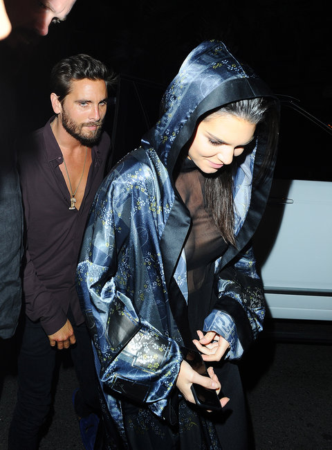 Kendall Jenner and Scott Disick are seen heading to Gotham nightclub in Cannes.