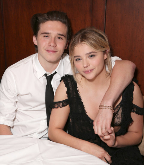 Brooklyn Beckham and Chloe Grace Moretz attend the after party for the premiere of Universal Pictures' 'Neighbors 2: Sorority Rising' on May 16, 2016 in Los Angeles, California.