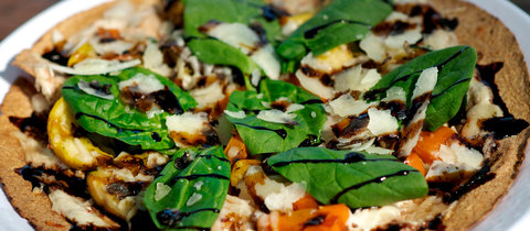 Thin Crust Grilled Veggie Pizza