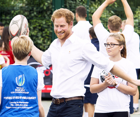 Prince Harry Playing Rugby - Embed 2016