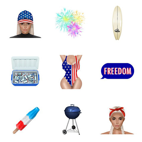 Kimoji 4th of July - Embed 2016