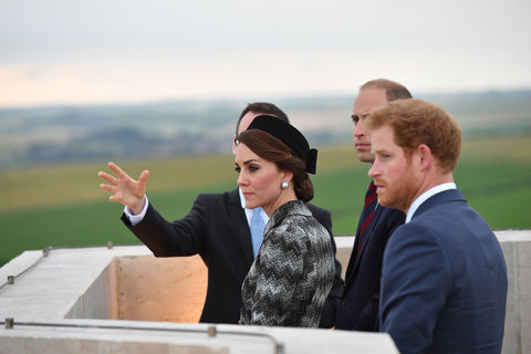 Kate Middleton, Prince William, and Prince Harry in France