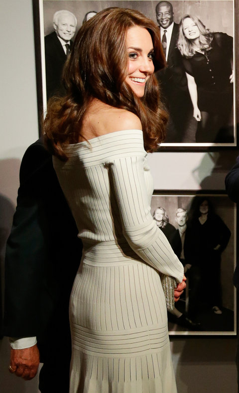 Kate Middleton Wears Sexy Off The Shoulder White Dress