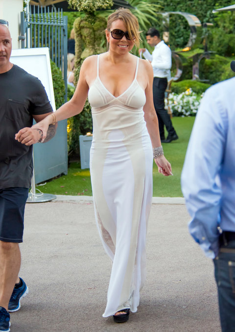 Mariah Carey S Lingerie Outfit For Lunch In St Tropez