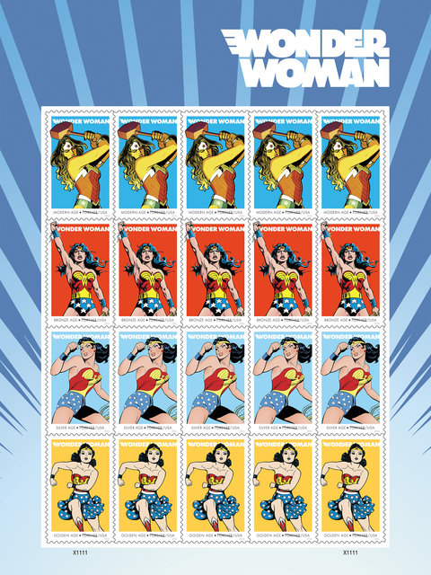 Wonder Woman Stamps - Embed