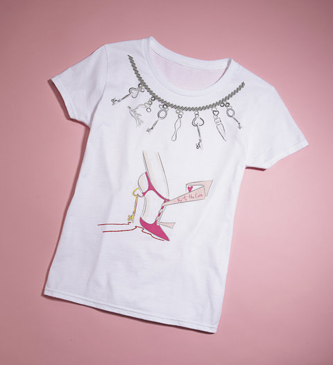 Christian Louboutin Key to the Cure T-shirt