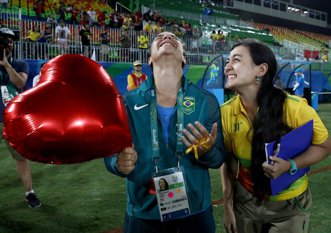 Couple Engaged at Rio 2016 Olympic Games - August 8, 2016 EMBED 2