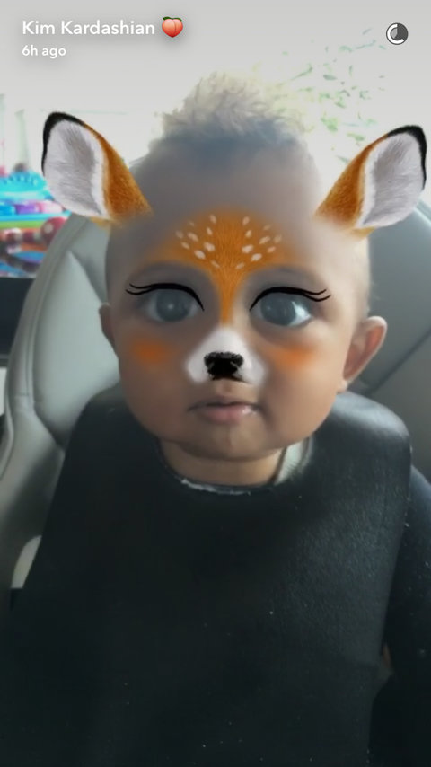 Saint West - 9 month old snapchat - EMBED