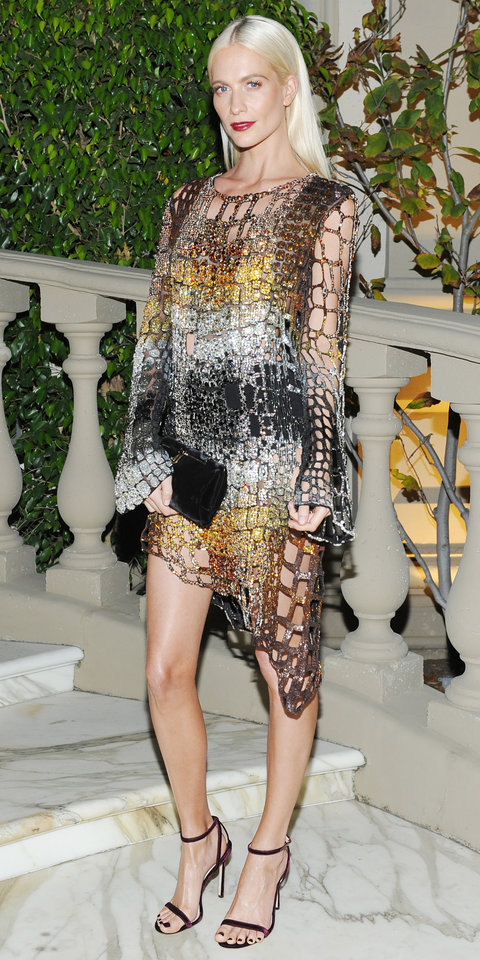 Poppy Delevingne in Balmain